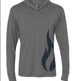 Tri-blend hoodie charcoal grey
