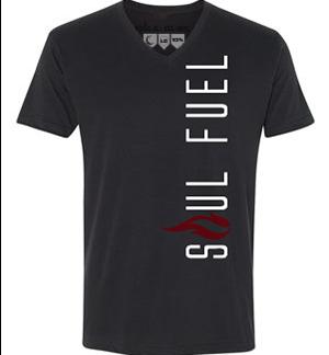 Primo Fitted V-neck T-shirt Vertical Logo